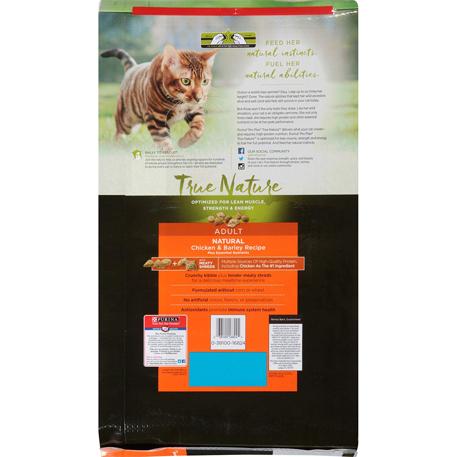 Purina Pro Plan True Nature Natural Chicken & Barley Recipe Adult Dry Cat Food